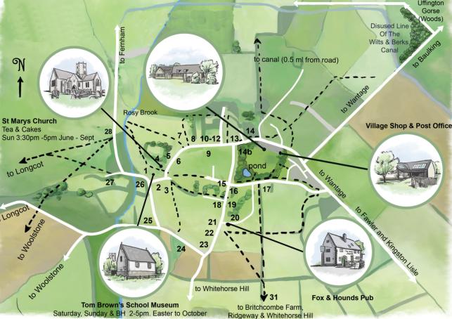 Map from Village Flyer leaflet
