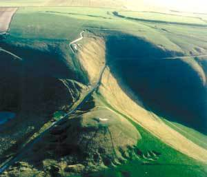 Uffington White Horse viewed from the north. Photo courtesy Vale of White Horse District Council.