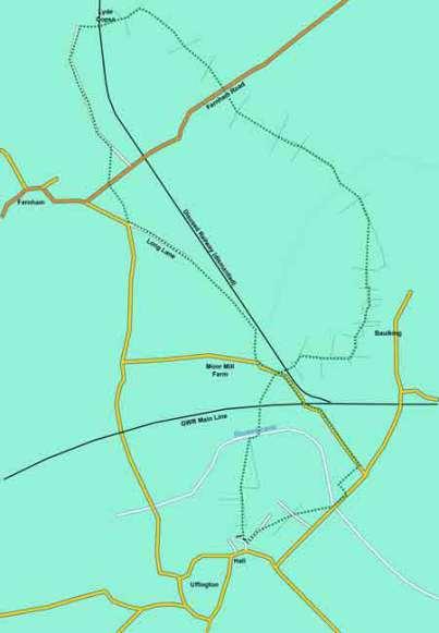 Map of Uffington, Baulking, Fernham Walk