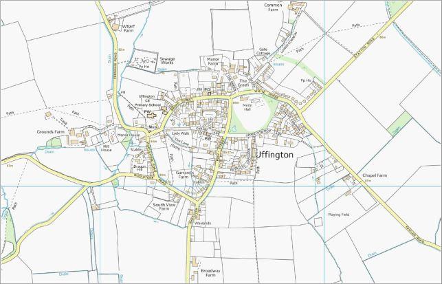 Map of Uffington Village